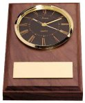 American Walnut Wedge Clock Achievement Awards