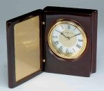 Piano Finish Mahogany Book Clock Achievement Awards
