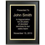 Matte Black Recognition Plaque Achievement Awards