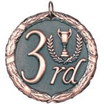3rd Place Bronze Bowling Trophy Awards