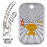 Lamp Dog Tag Education Trophy Awards