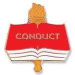Conduct Lapel Pin Education Trophy Awards