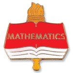 Mathematics Lapel Pin Education Trophy Awards