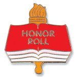 Honor Roll Lapel Pin Education Trophy Awards