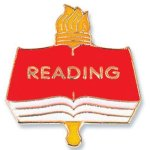 Reading Lapel Pin Education Trophy Awards