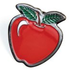 Apple Lapel Pin Education Trophy Awards
