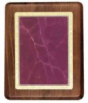 Walnut Plaque with Burgundy Marble Plate Employee Awards