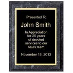 Improved Black Marble Plaque Employee Awards