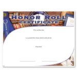 Honor Roll Fill in the Blank Certificates
