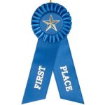 1st Place Rosette Ribbon Football Trophy Awards