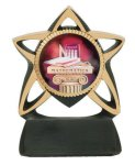 Star Resin Mylar Holder Hockey Trophy Awards