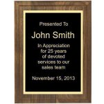Two Step Solid Walnut Plaque Religious Awards