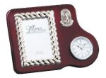 Mahogany Photo Frame With Clock Secretary Gift Awards