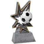 Soccer Bobble Resin Soccer Trophy Awards