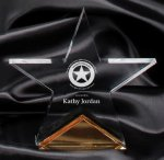 Gold Spectra Star Award Star Acrylic Awards