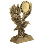Eagle W/ 2 Ins Holder Resin Swimming Trophy Awards