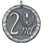 2nd Place Silver Tennis Trophy Awards