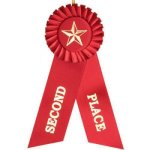 2nd Place Rosette Ribbon Tennis Trophy Awards