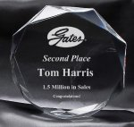 Clear Octagon Award Traditional Acrylic Awards