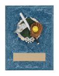 Softball Resin Plaque Mount Award Victory Trophy Awards