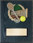 Tennis Resin Plaque Mount Award Victory Trophy Awards